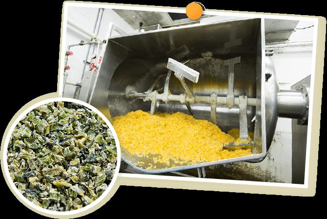 フリーズドライ製法で作った野沢菜の画像